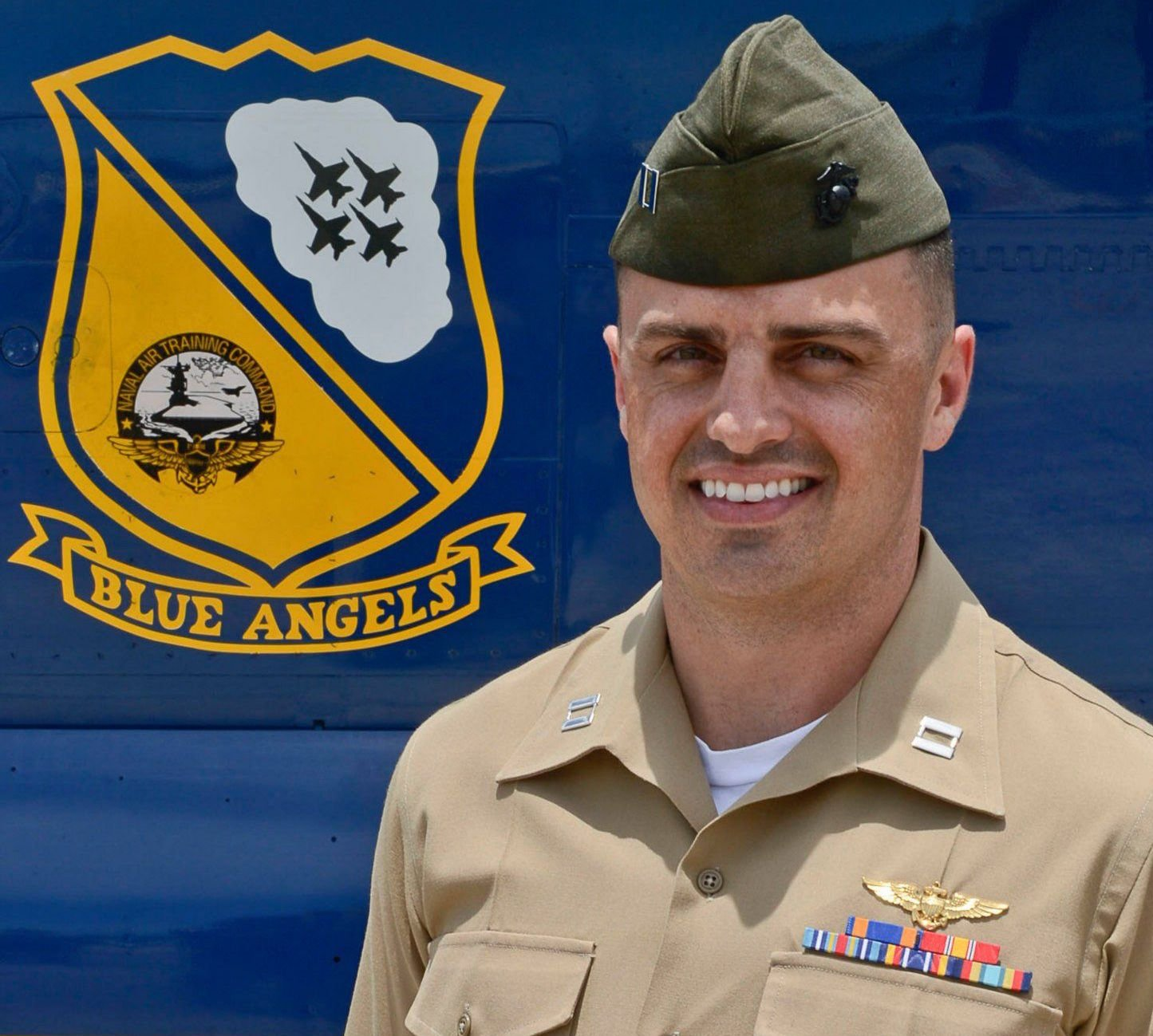 Marine Capt. Jeff Kuss in 2014. Blues Angels Photo