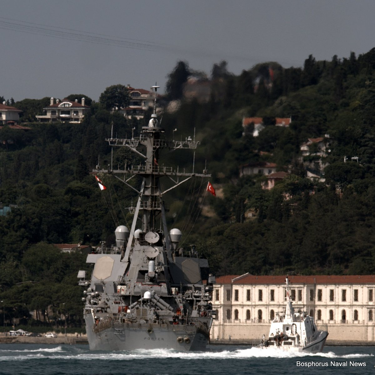 USS Porter (DDG-78) crossing the Bosporus Strait on June 6, 2016. Bosporus Naval News Photo used with permission
