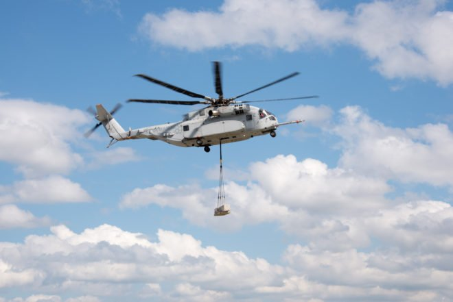 Marines' CH-53K Lifts 20,000-Pound External Load As Tests Progress Ahead Of Schedule