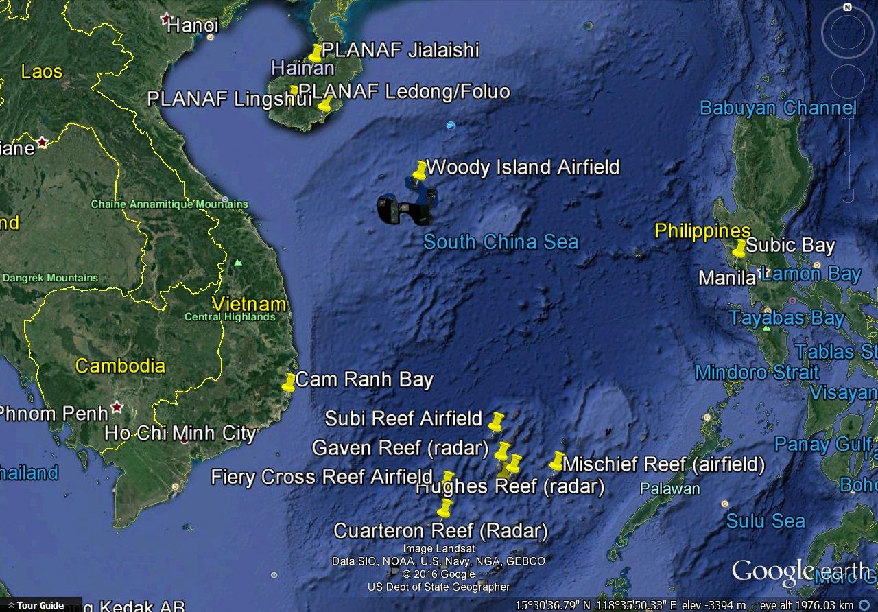 Can China Enforce A South China Sea ADIZ - Map Of Naval Aviation Basesin The Us