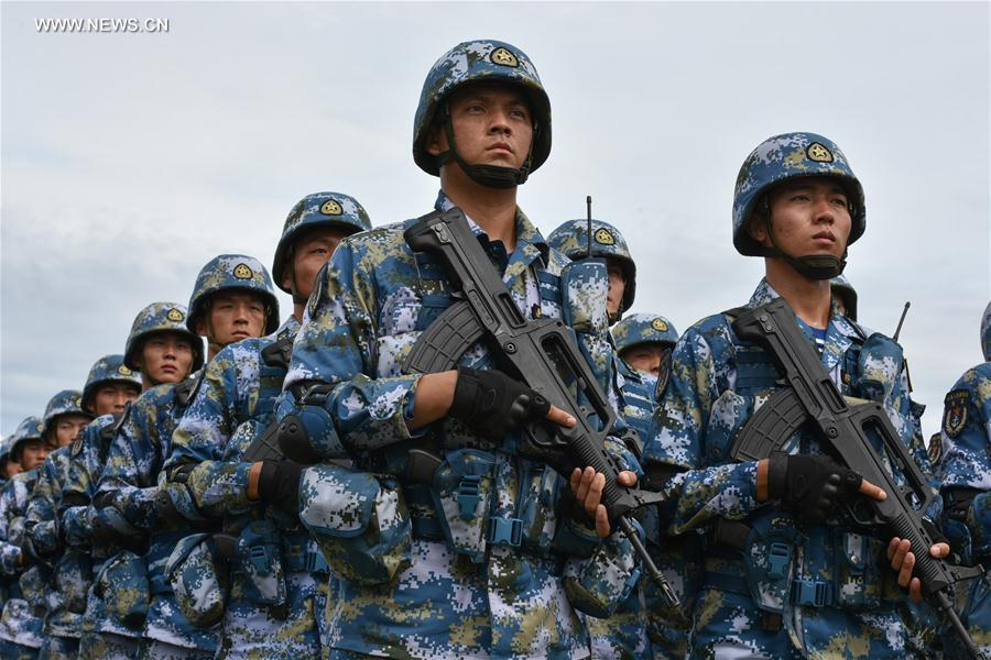 Chinese Marines exercise in Thailand in May. Xinhua Photo