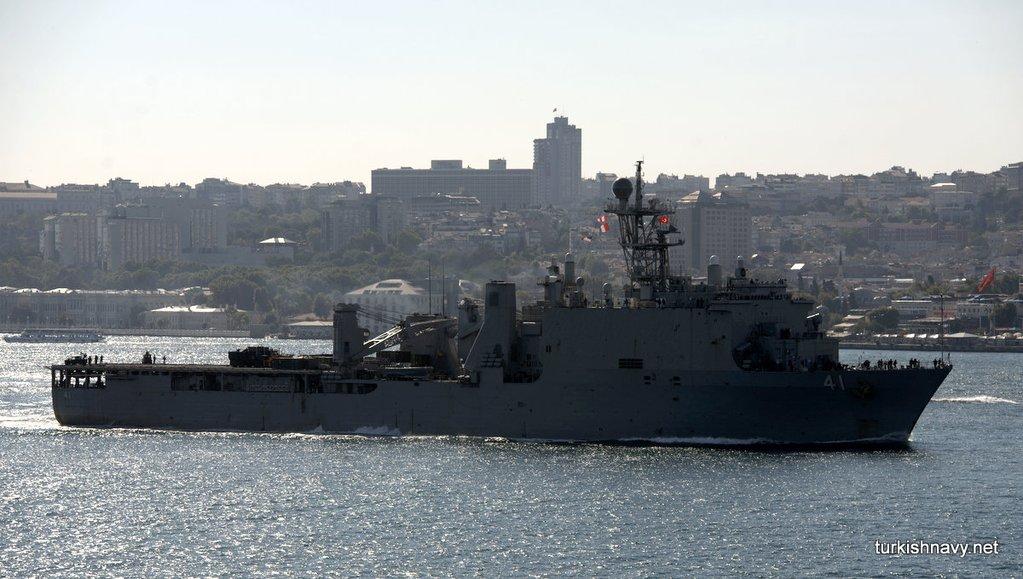 USS Whidbey Island (LSD-41) transiting the Bosphorus Strait on July 21, 2016. Turkishnavy.net Photo used with Permission
