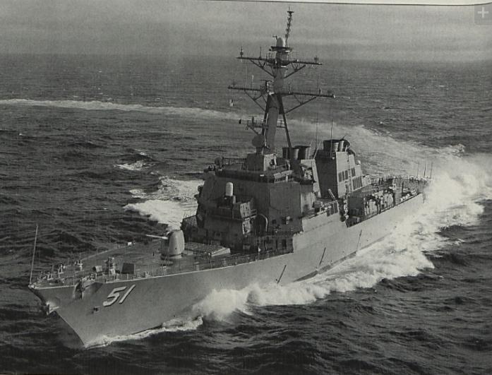USS Arleigh Burke (DDG-51) in 1991. US Navy Photo