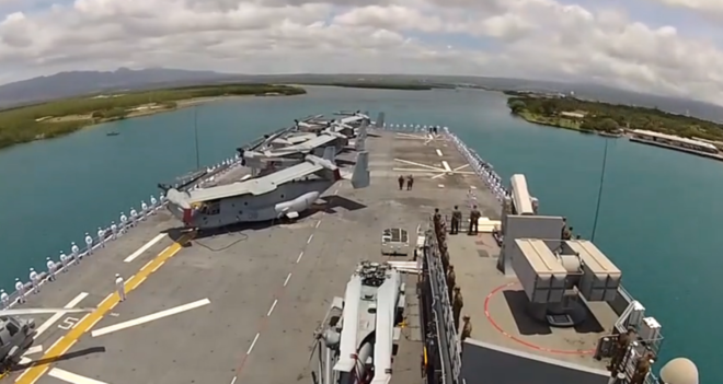 Video: USS America Arrives at Pearl Harbor