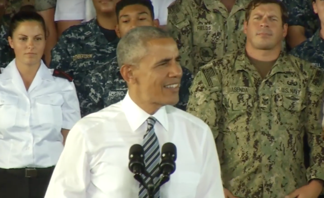 Video: Obama Speaks to Sailors at Naval Station Rota