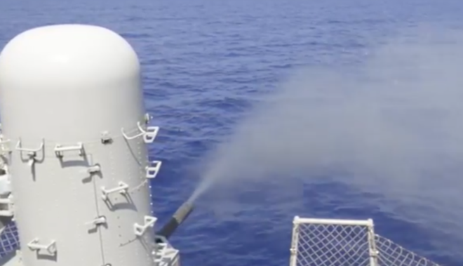 Video: Carrier Stennis Fires Close-in Weapon System