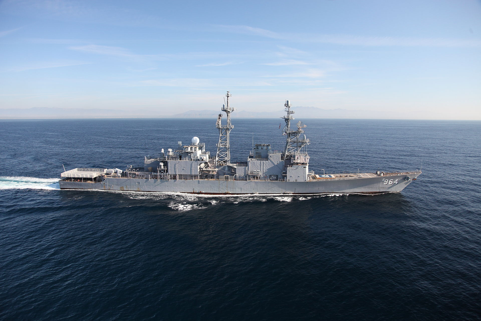 Navy's Self Defense Test Ship, the former USS Paul Foster in 2011. US Navy Photo