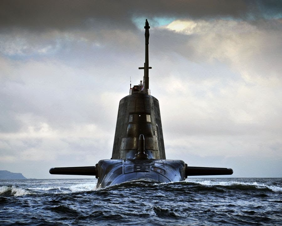 Astute-class nuclear submarine HMS Ambush. UK Royal Navy Photo