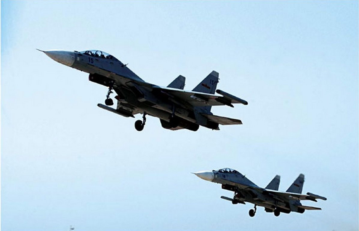 Two Chinese Su-30 Fighters. PLA Photo