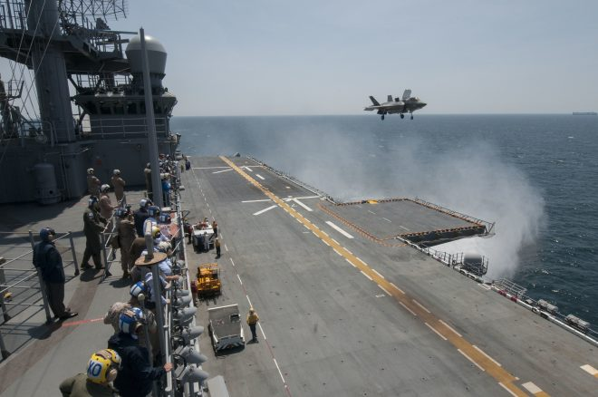 USS America Air Department Prepares For F-35B Testing This Fall