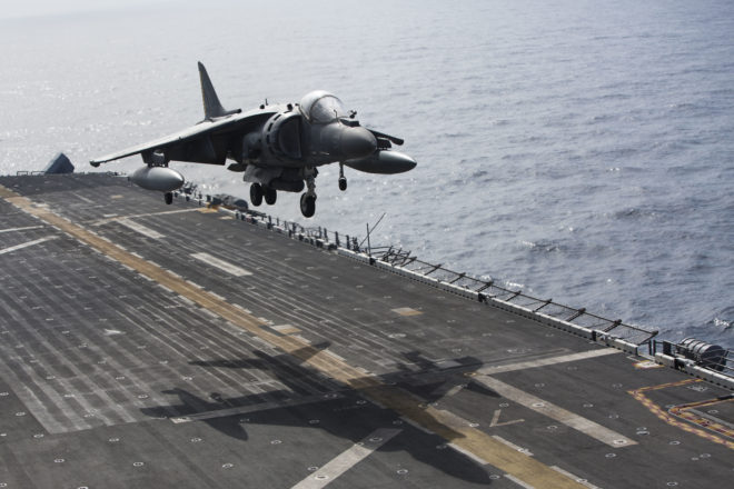 Marine Harriers Strike ISIS Targets in Libya from USS Wasp