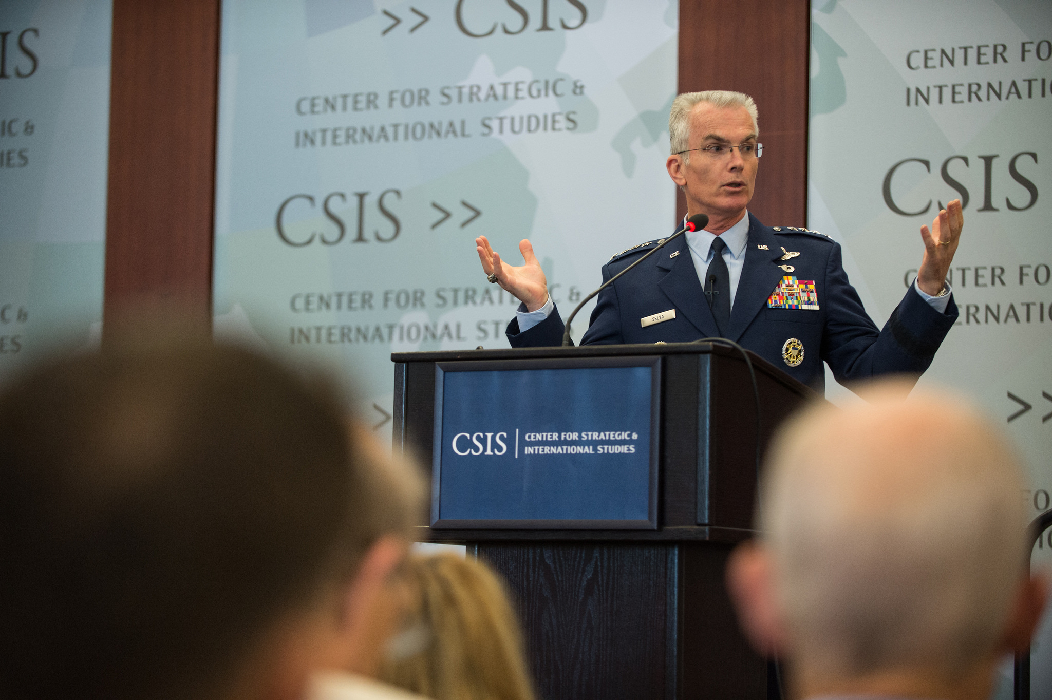 Gen. Frank Selva at CSIS on Thursday. DoD Photo