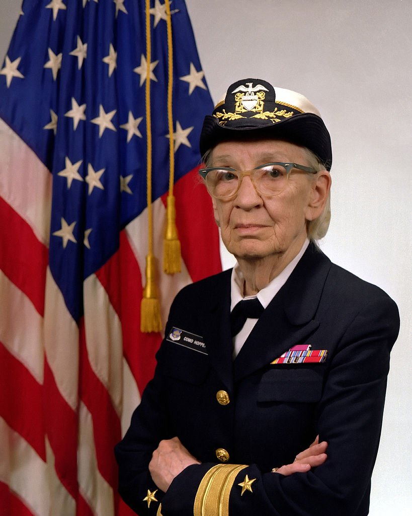 Grace Hopper in 1984. US Navy Photo