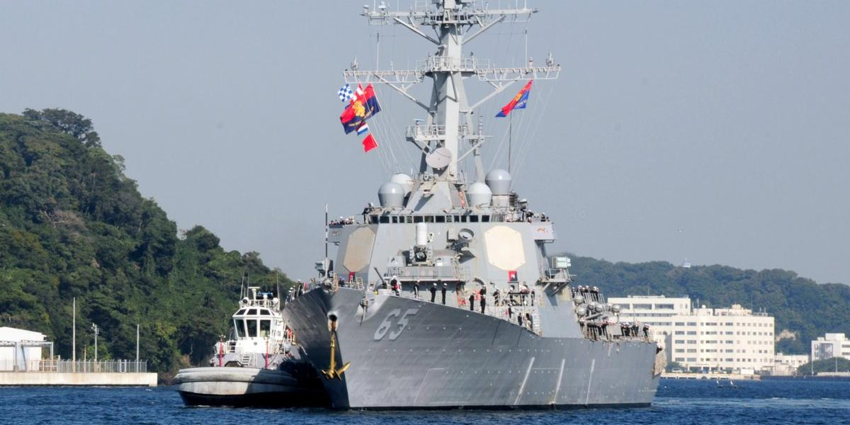USS Benfold arrives in Qingdao, China on Aug. 8, 2016. US Navy Photo