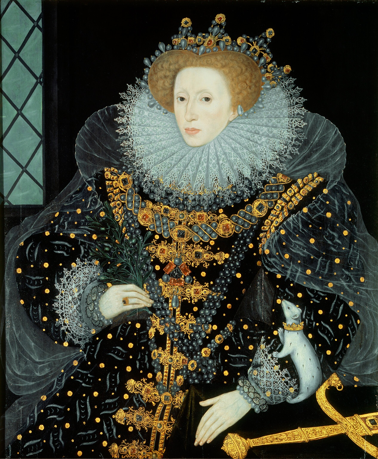 Portrait of Elizabeth I made in 1585