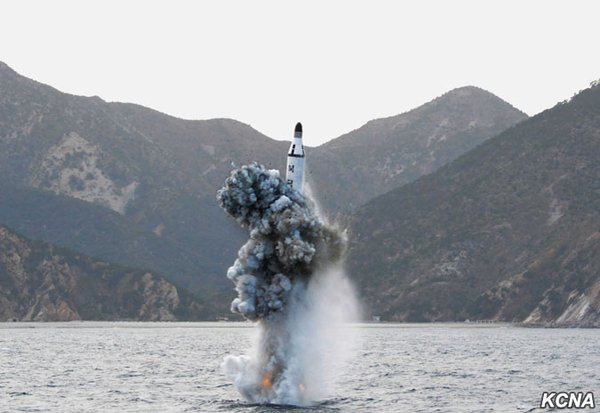 KN-11 Launch. North Korean Central News Agency Photo