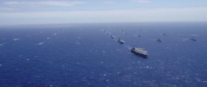 Video: 40 Warships in Formation off Hawaii