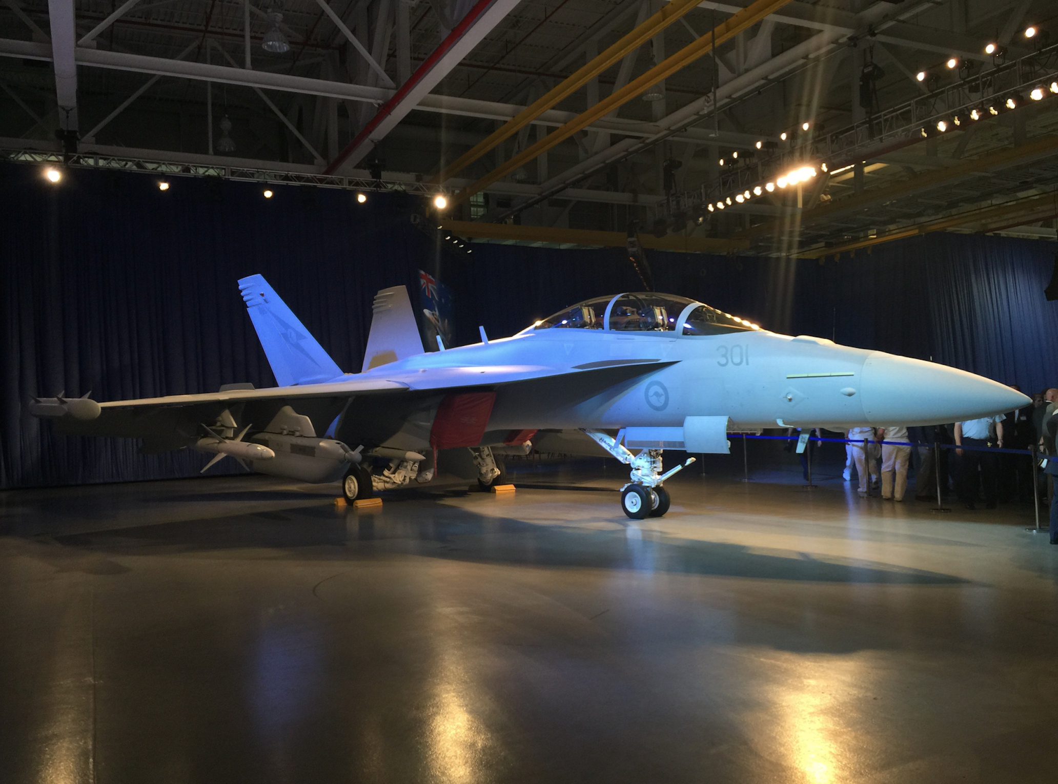 RAAF's first Growler during a July 29, 2015 ceremony in Boeing's plant in St. Louis, Mo. USNI News Photo