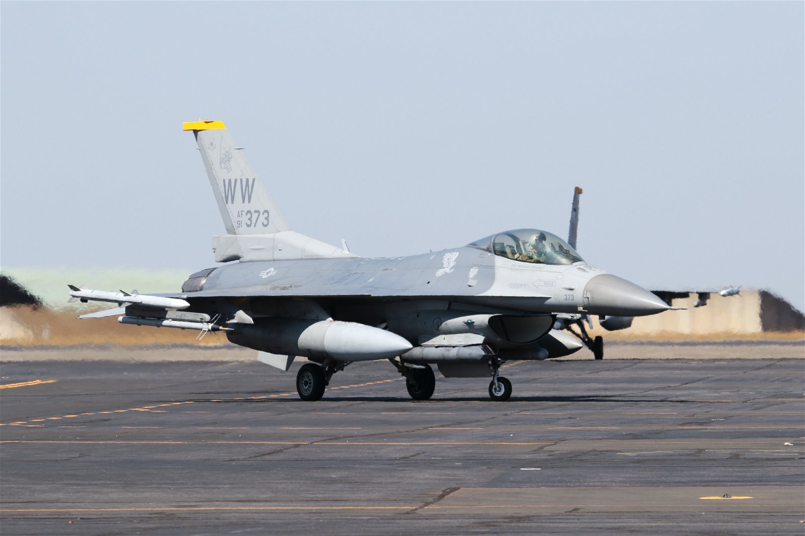 U.S. Air Force F-16 participating in Austrlia's Pitch Black Air Combat exercise. Mike Yeo Photo Used with Permission