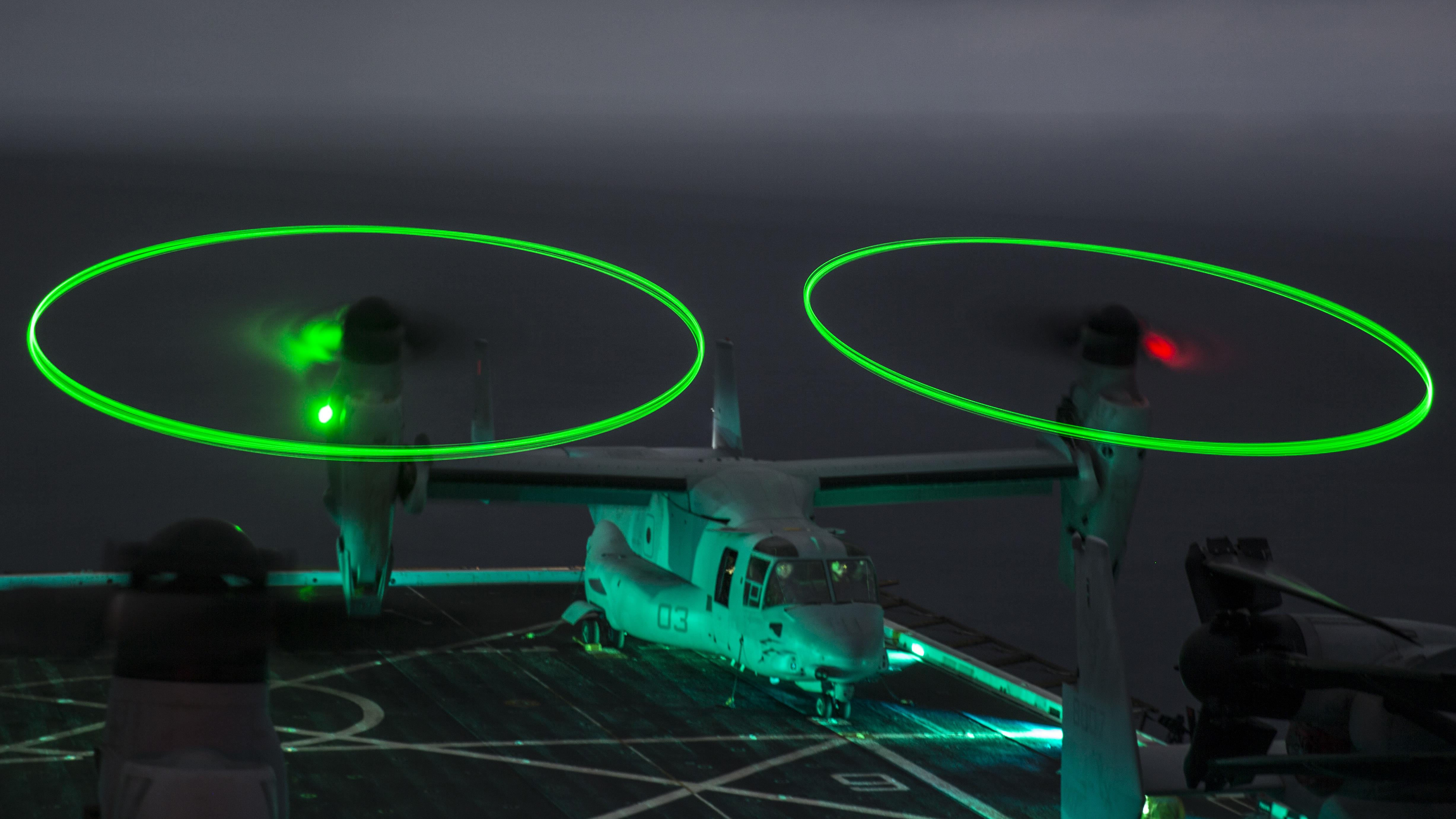 A Marine Corps MV-22B Osprey assigned to the 13th MEU operating from USS Boxer (LHD-4). US Marine Corps Photo