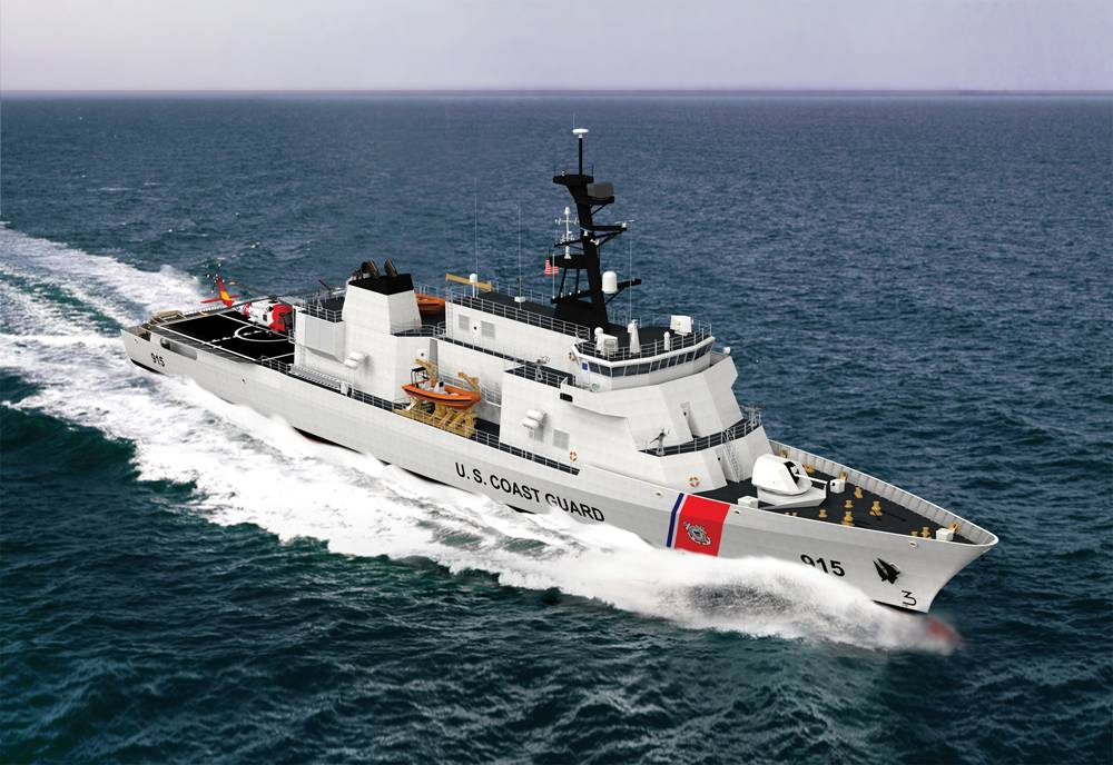 An artist's conception of Eastern Shipbuilding's Offshore Patrol Cutter design.