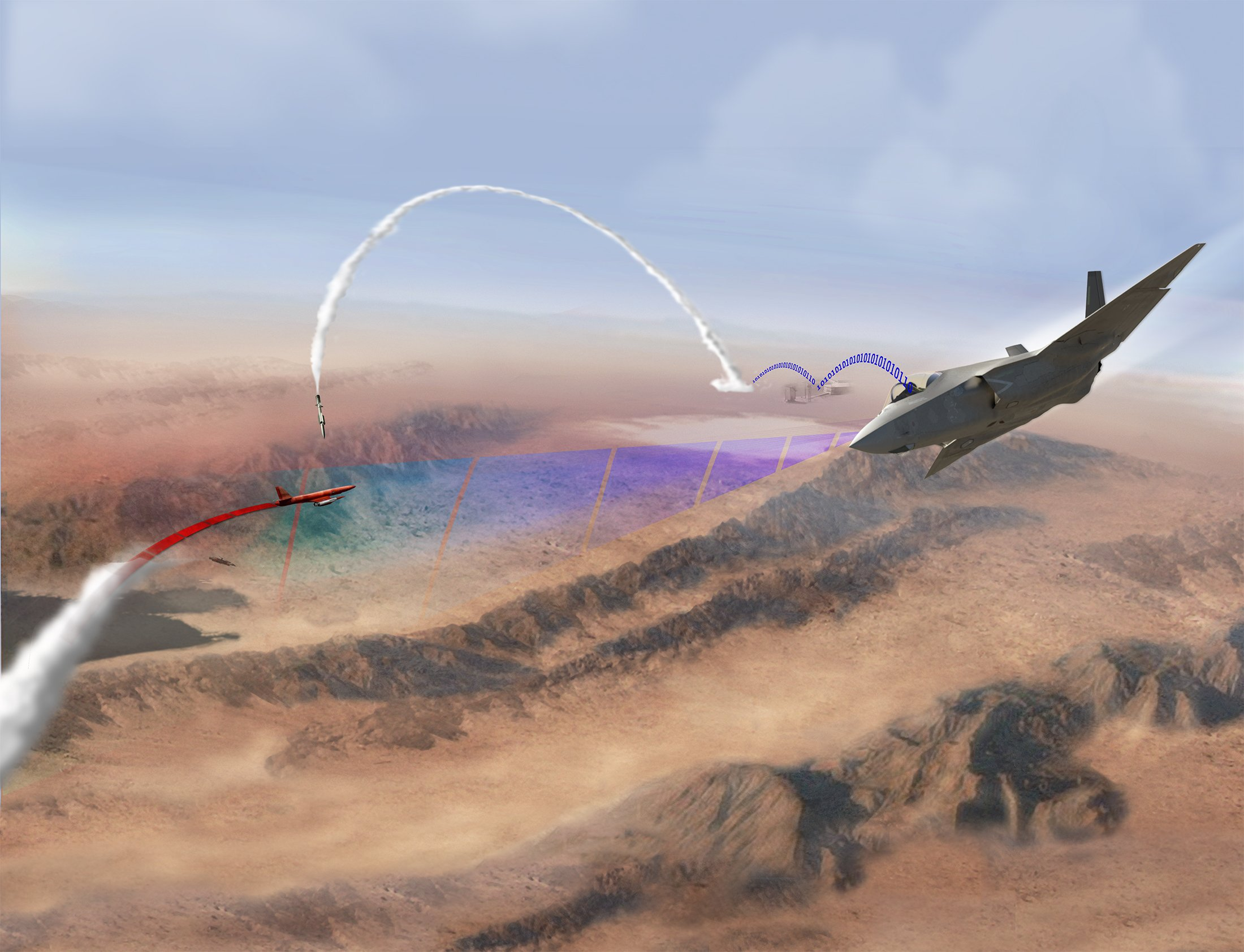 An artist's conception of the F-35 test. Lockheed Martin Image