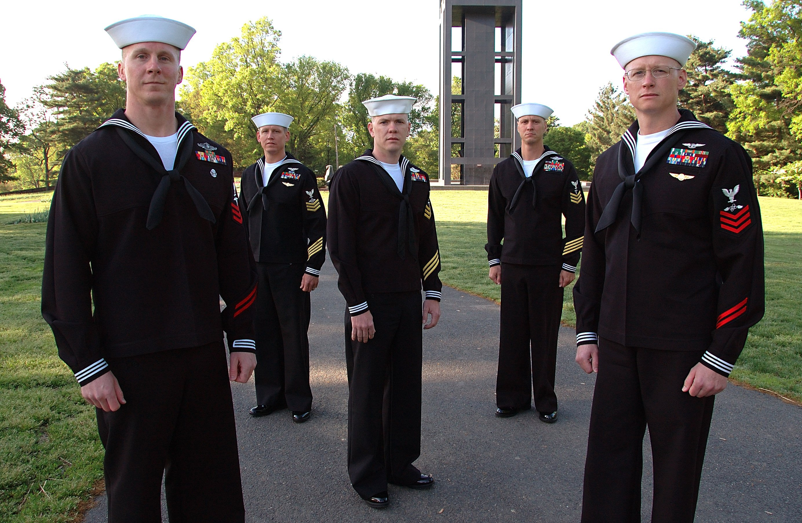 Five sailors in 2006. US Navy Photo