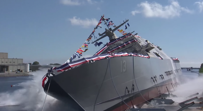 Video: Littoral Combat Ship Wichita Launches