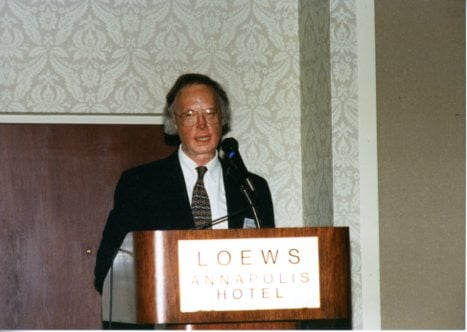 Robert Timberg in 1996. US Naval Institute Photo