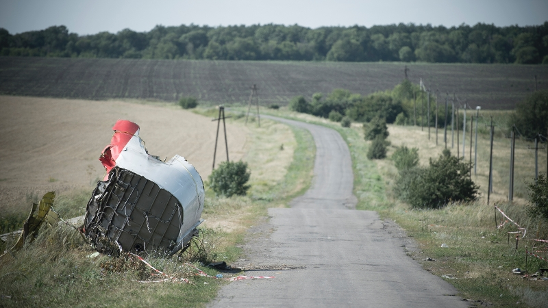 Wreckage of the Flight MH-17. Dutch Openbaar Ministerie Photo