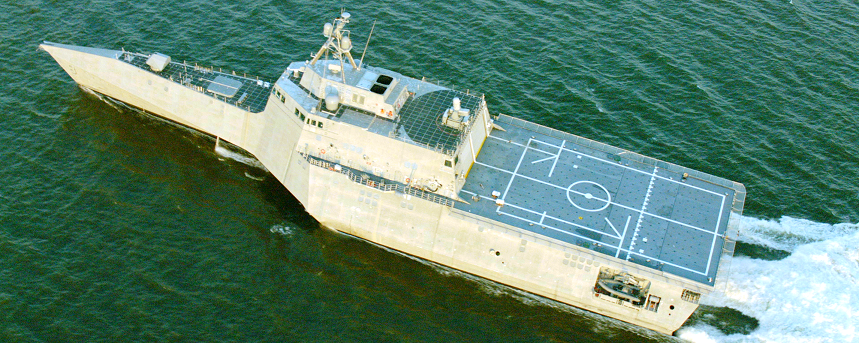 USS Montgomery (LCS-8) during sea trials. Austal USA Photo