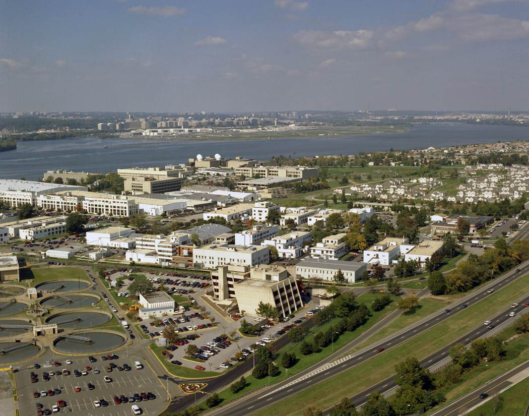 Aerial view of Naval Research Laboratory