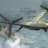 The Office of Naval Research and DARPA are collaborating on the Tern project to give forward-deployed small ships the ability to serve as mobile launch and recovery sites for medium-altitude, long-endurance unmanned aerial systems that would provide ISR and other capabilities. DARPA rendering.