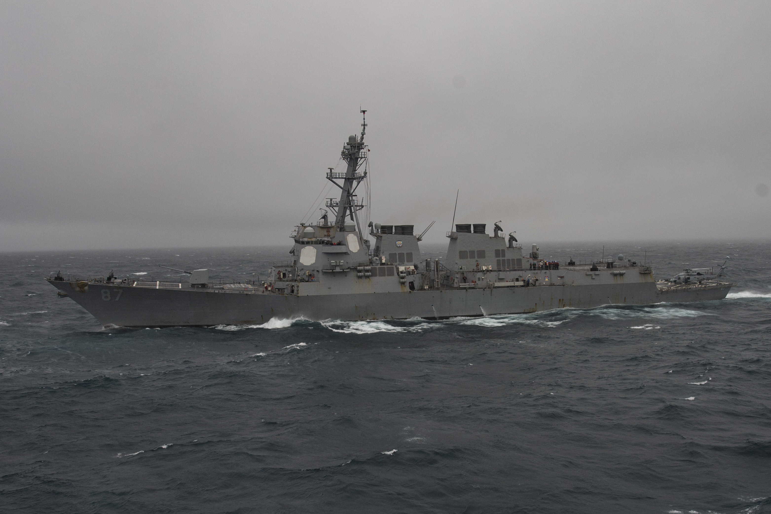 USS Mason (DDG-87) on June 6, 2016. US Navy Photo