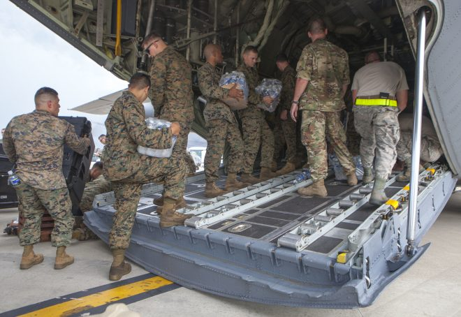 Marines, Soldiers Arrive In Haiti As Navy Ships Prepare For Potential Hurricane Response Mission