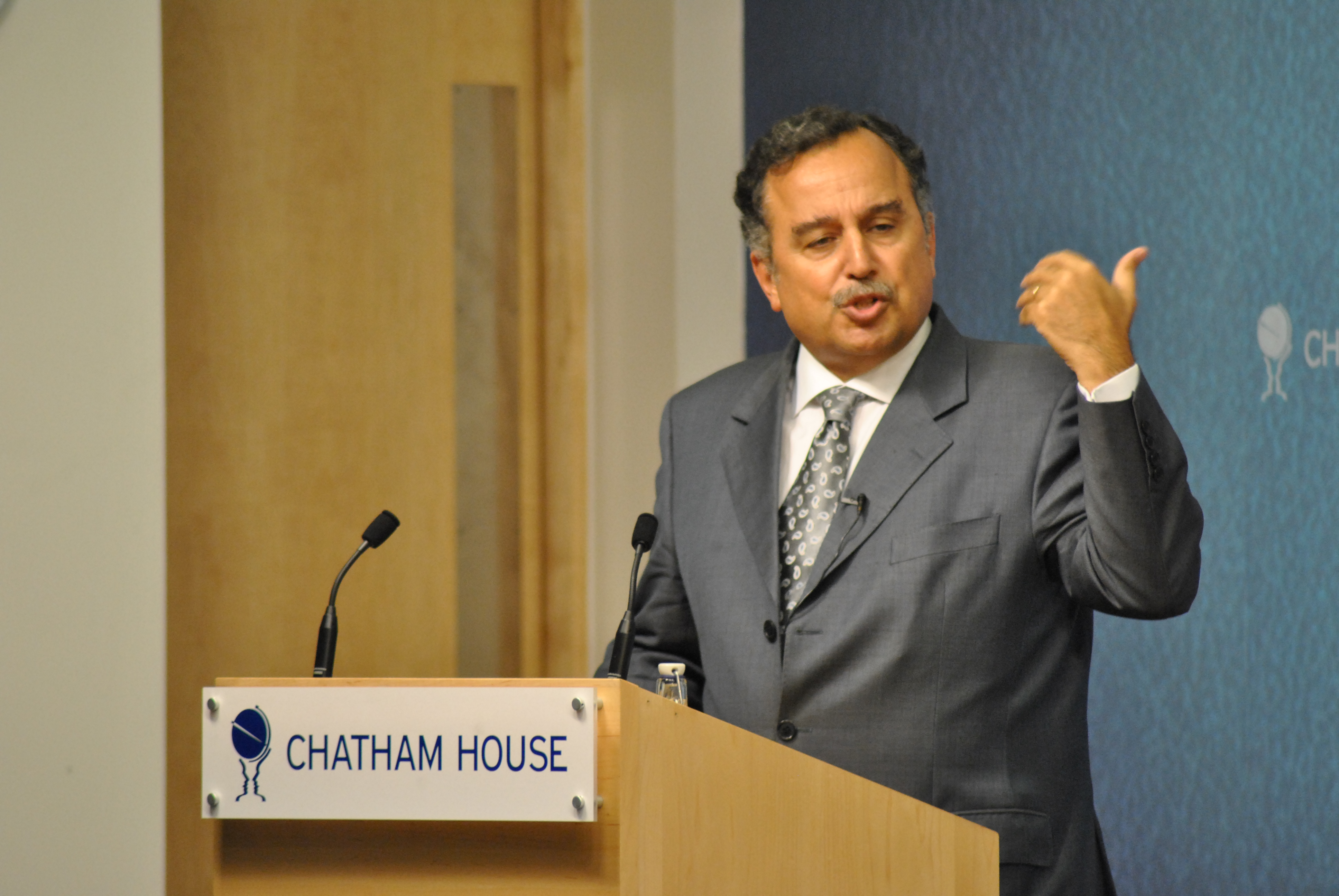 Nabil Fahmy, then Dean at the School of Public Affairs, American University in Cairo in 2011. Chatham House Photo