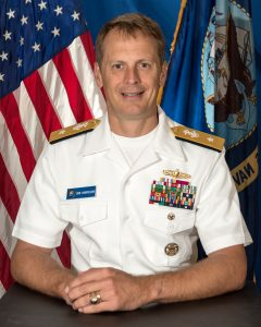 Rear Adm. Donald D. Gabrielson Commander of Logistics Group Western Pacific/Task Force 73. US Navy Photo