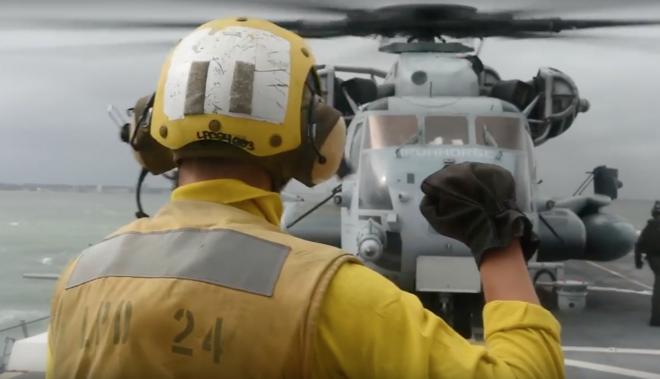 Video: USS Mesa Verde Prepares for Hurricane Matthew