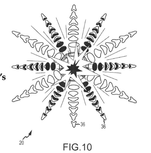 EFP warhead blast pattern