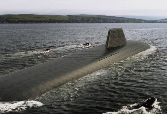 An artist's conception of the U.K.'s Successor-class future planned ballistic missile submarine (SSBN). UK Ministry of Defense Photo