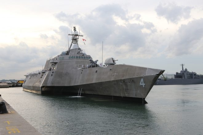 Littoral Combat Ship USS Coronado Arrives in Singapore