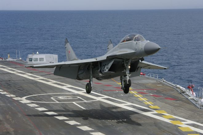 Russian Carrier-based MiG-29K Fighter Crashes in Mediterranean; Shows Potential Gaps in Capability