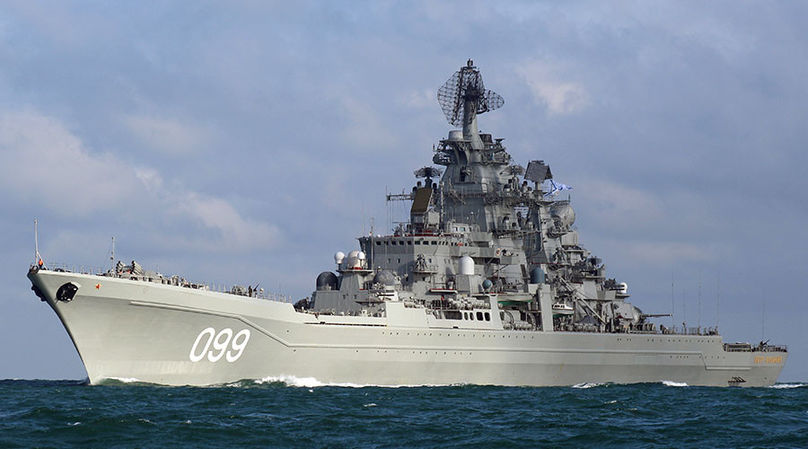 Russian Navy cruiser Peter the Great
