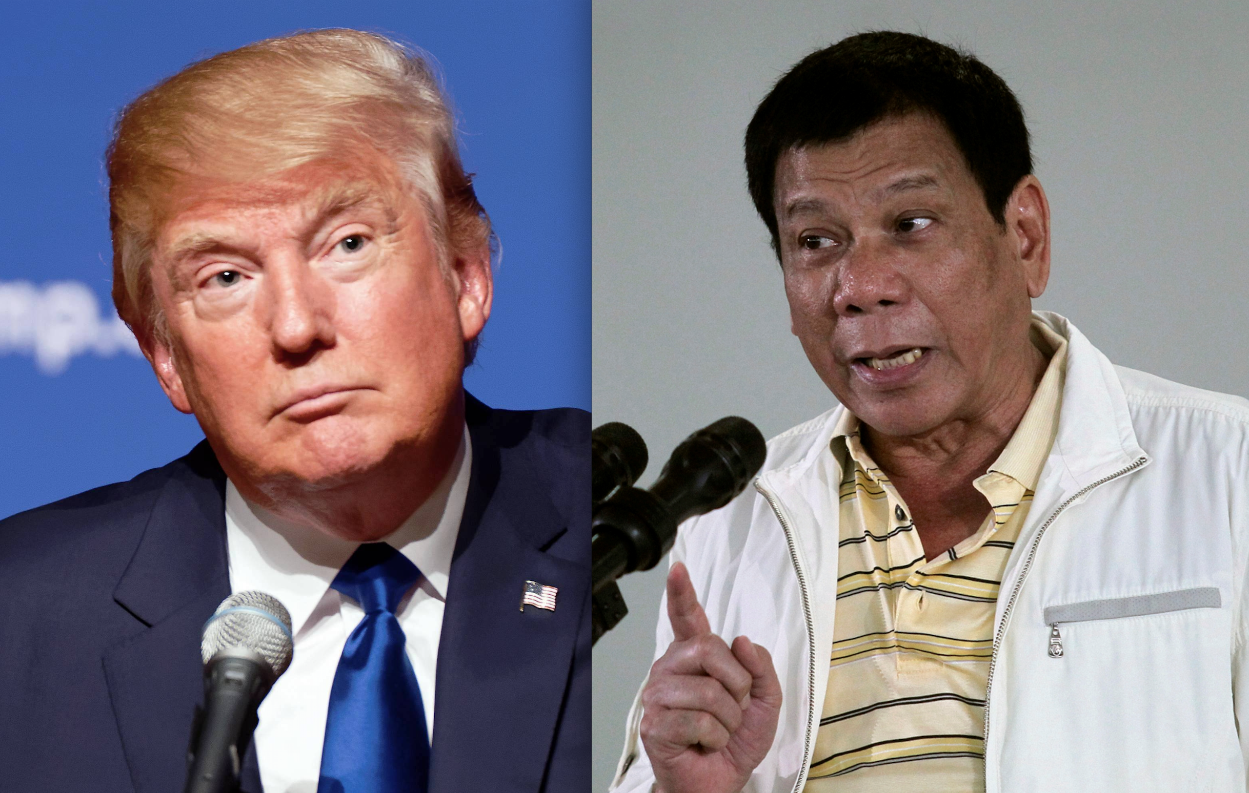 President-elect Donald Trump and Philippine President Rodrigo Duterte