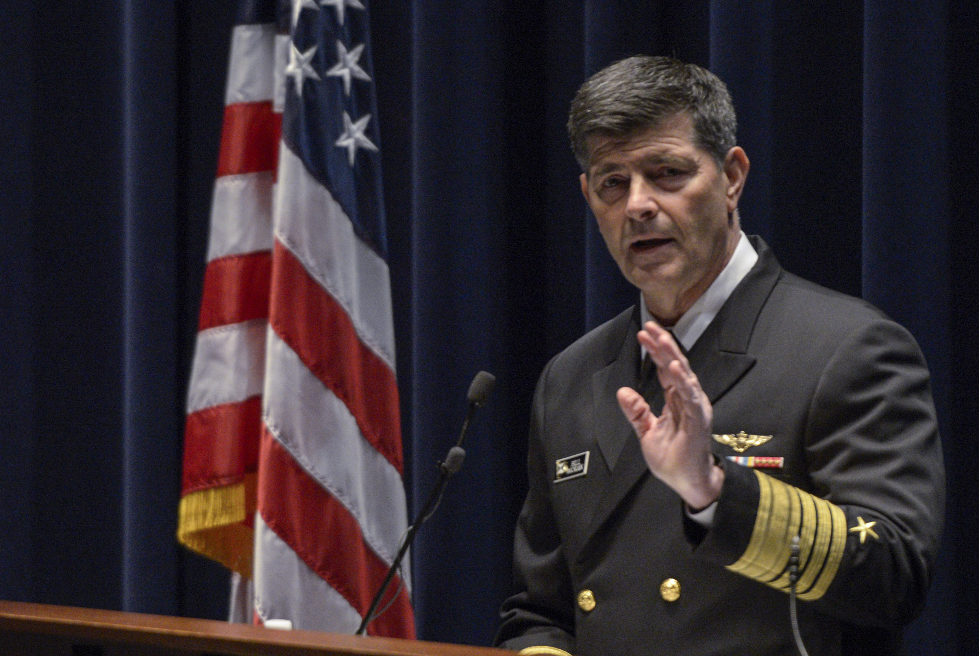 Vice Chief of Naval Operations Adm. William Moran delivers remarks at the 2016 Future Strategy Forum at the Navy Memorial in Washington, D.C., US Navy Photo