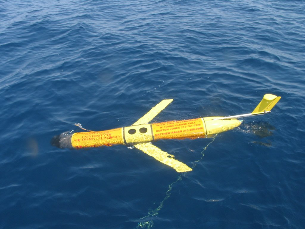 A U.S. Navy buoyancy glider similar to one seized by Chinese forces. US Navy Photo