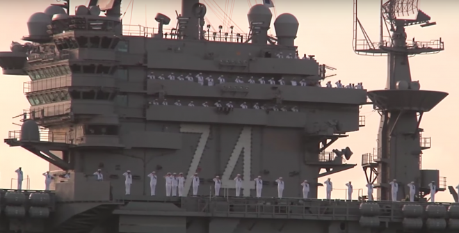Video: USS John C. Stennis Arrives at Pearl Harbor for 75th Anniversary of Attack