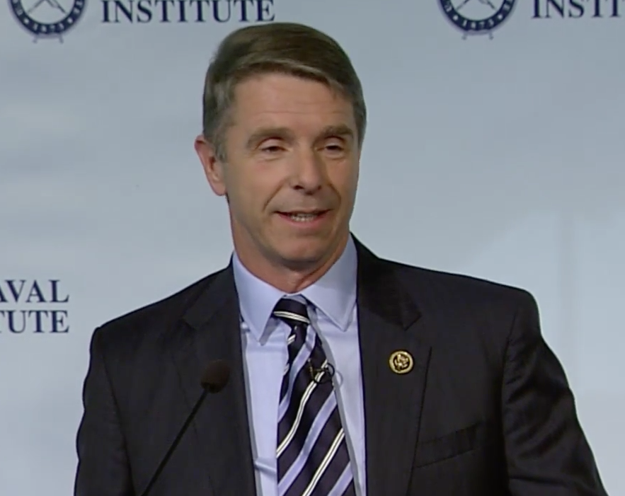 Rep. Rob Wittman (R-Va.) speaking at the U.S. Naval Institute's Defense Forum Washington. U.S. Naval Institute Image
