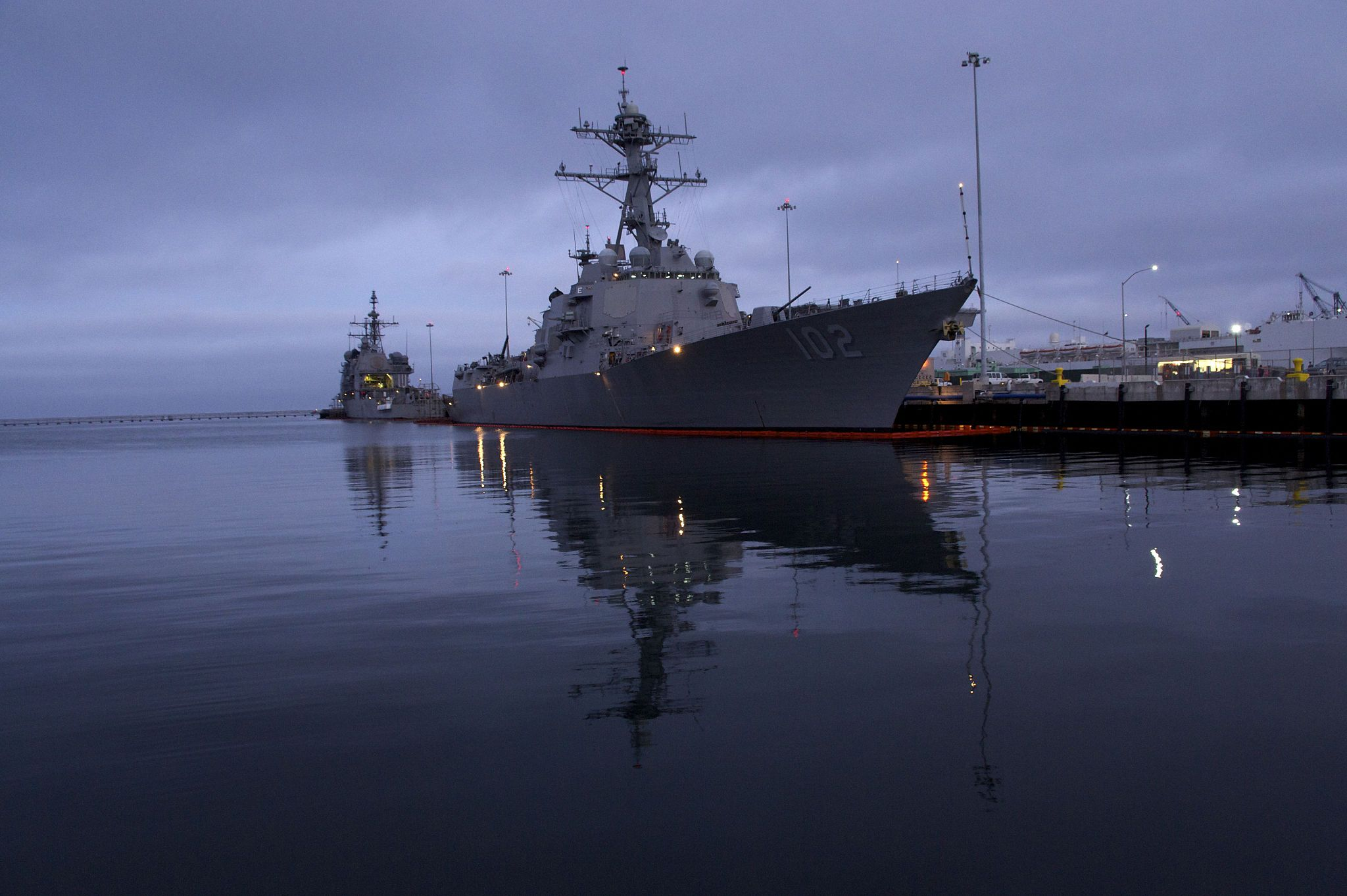 USS Sampson (DDG-102) moored at Naval Station San Diego, Calif. in 2011. US Navy Photo