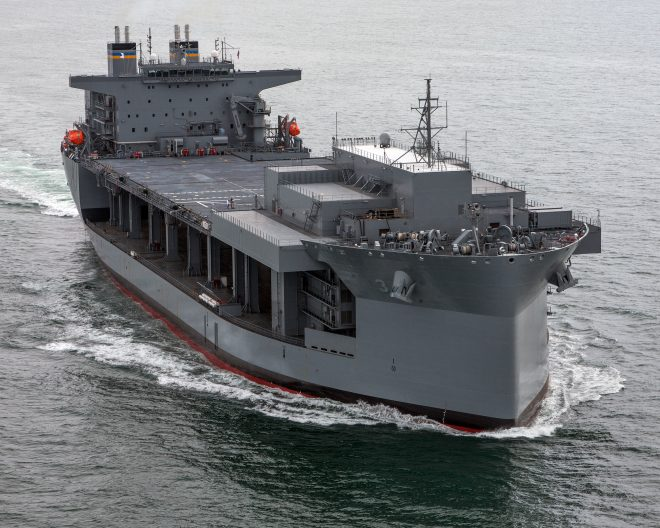 Navy to Commission Middle East-based Expeditionary Sea Base Lewis B. Puller as a Warship